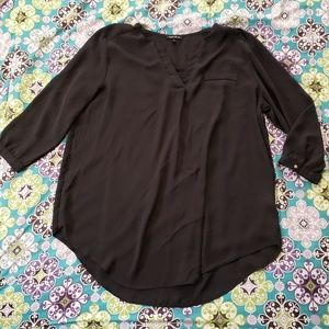 Long Sleeve Sheer Tunic Top